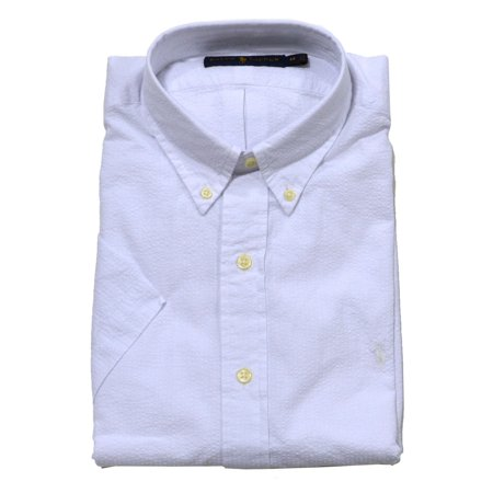 Ralph Lauren Polo Top (Polo Ralph Lauren Men's Check Seersucker Shirt (White, XL) )