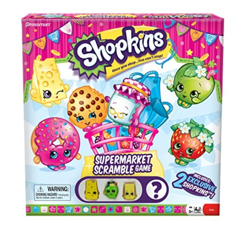 Shopkins Supermarket Scramble Game With 4 Exclusive Collectible Shopkins Characters Found Only In Our Games Walmart Com Walmart Com