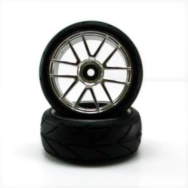 Redcat Racing 02020c Chrome Wheels And Tires - For All Redcat Racing Vehicles