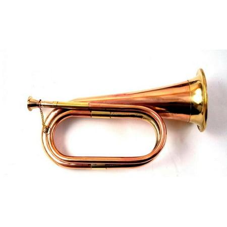 India Overseas Trading BR3105 Bugle, Copper & Brass (Copper Bugle)