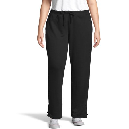 8ac7c306e63ec Just My Size - Women s Plus Size French Terry Jogger with Lace-up ...
