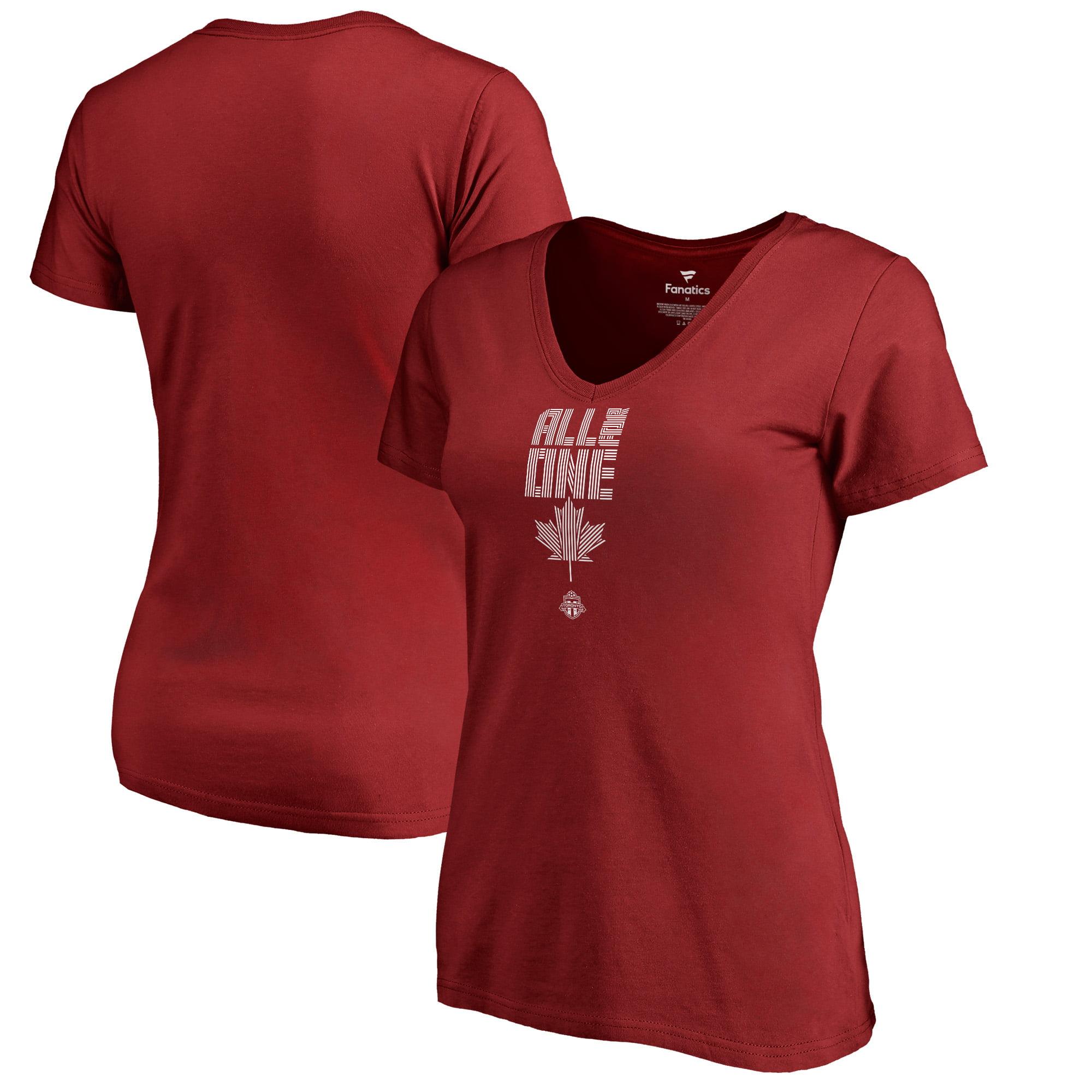 Toronto FC Fanatics Branded Women's League Trend V-Neck T-Shirt - Red