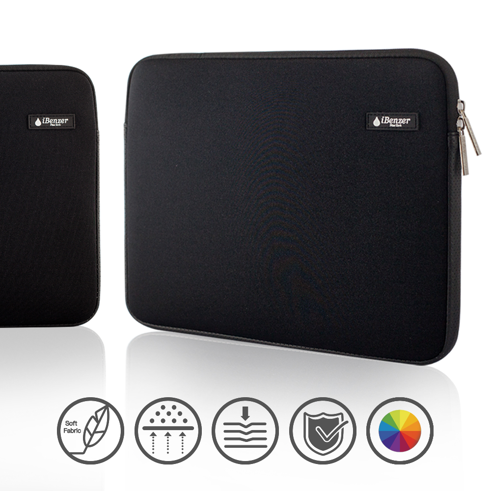iBenzer - Deluxe Laptop Sleeve Bag Cover Case for All 13-inch Laptop Computers - Macbook Pro 13'' / Macbook Air 13''/ Macbook Pro Retina Display 13'', Black BH-MP13BK