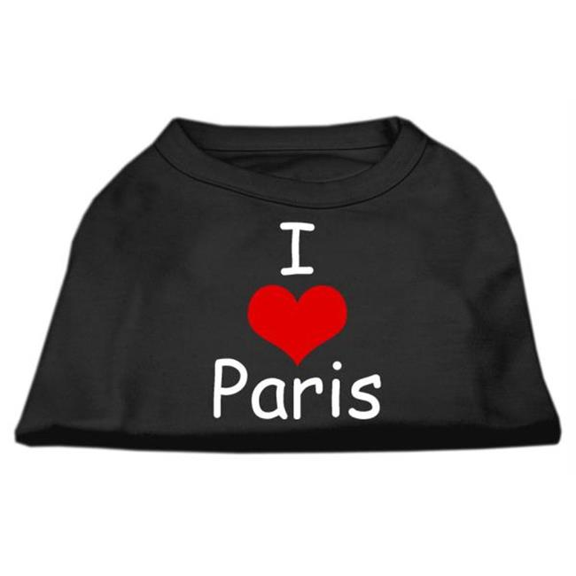 I Love Paris Screen Print Shirts Black  Sm (10) - image 1 de 1