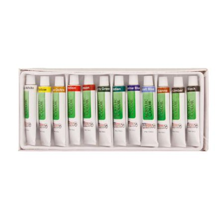 Acrylic Base - US Art Supply® 12 10ml Tube Artist Acrylic Paint Set Quick Drying Water Based