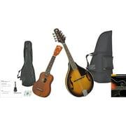 Rogue Mandolin And Ukulele Travel Pack Black