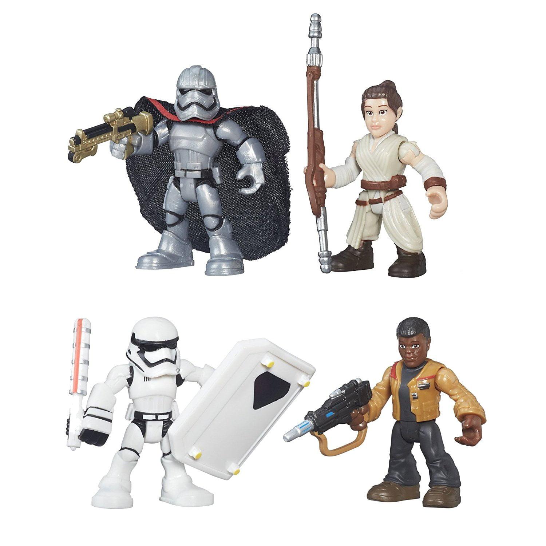 Heroes Galactic Heroes Star Wars Set of 4: Rey, Captain Phasma, Finn, & Storm Trooper, Set... by