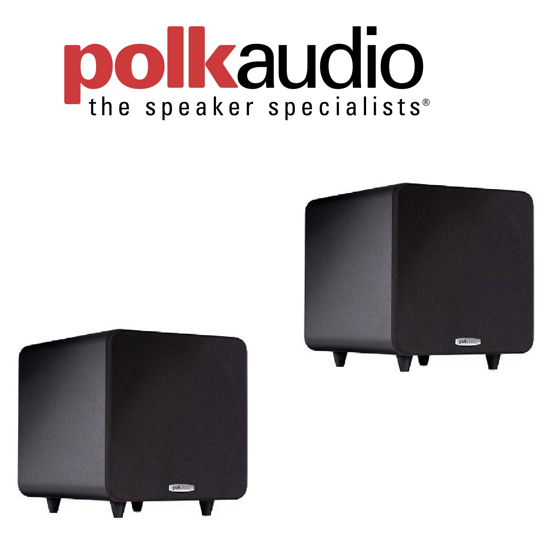 (1 Pair) Polk Audio PSW111 Subwoofer (Single, Black) Bundle