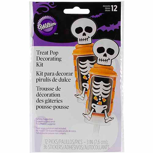 Wilton Treat Pop Decorating Kit, Skeleton 12 ct. 415-7098