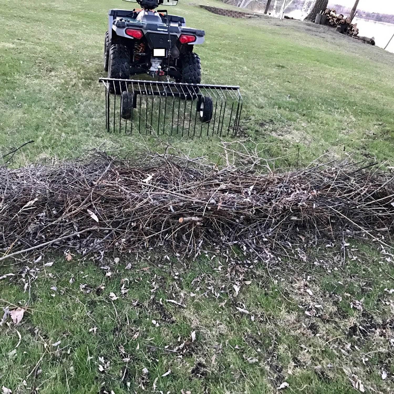 Yard Tuff YTF-60PSR Pine Straw Rake 60 60