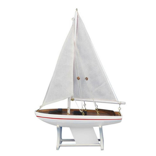 Handcrafted Nautical Decor It Floats Intrepid Model Sailboat by Handcrafted Nautical Decor
