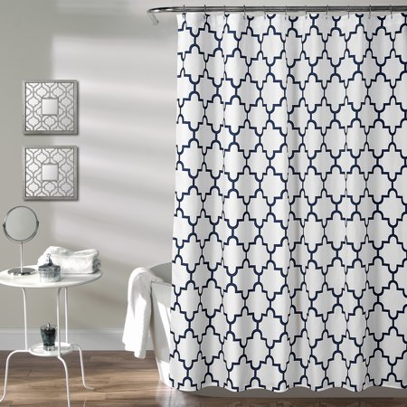 - Bellagio Shower Curtain Navy 72X72
