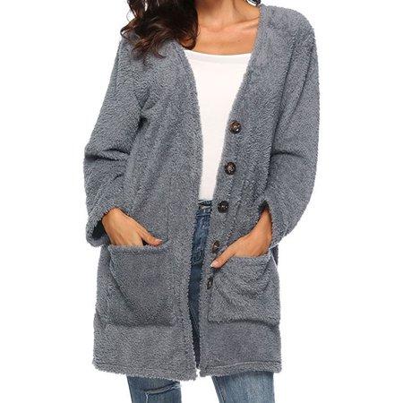 Women's Winter Warm Teddy Bear Fleece Fur Fluffy Jackets Overcoat Plus Size Coat Fur Coat Teddy Bears
