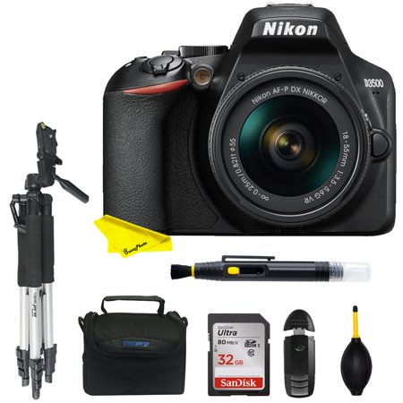 Nikon D3500 DSLR Camera with 18-55mm LensDX-format 24.2MP CMOS Sensor and EXPEED 4 Image processor+32GB card+UVfilters+other photo accesories