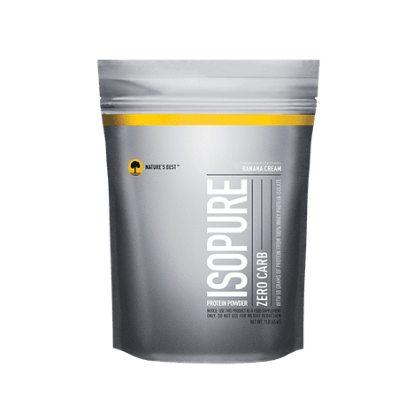Isopure Zero Carb Protein Powder, Banana Cream, 50g Protein, 1 (Best Undenatured Whey Protein)