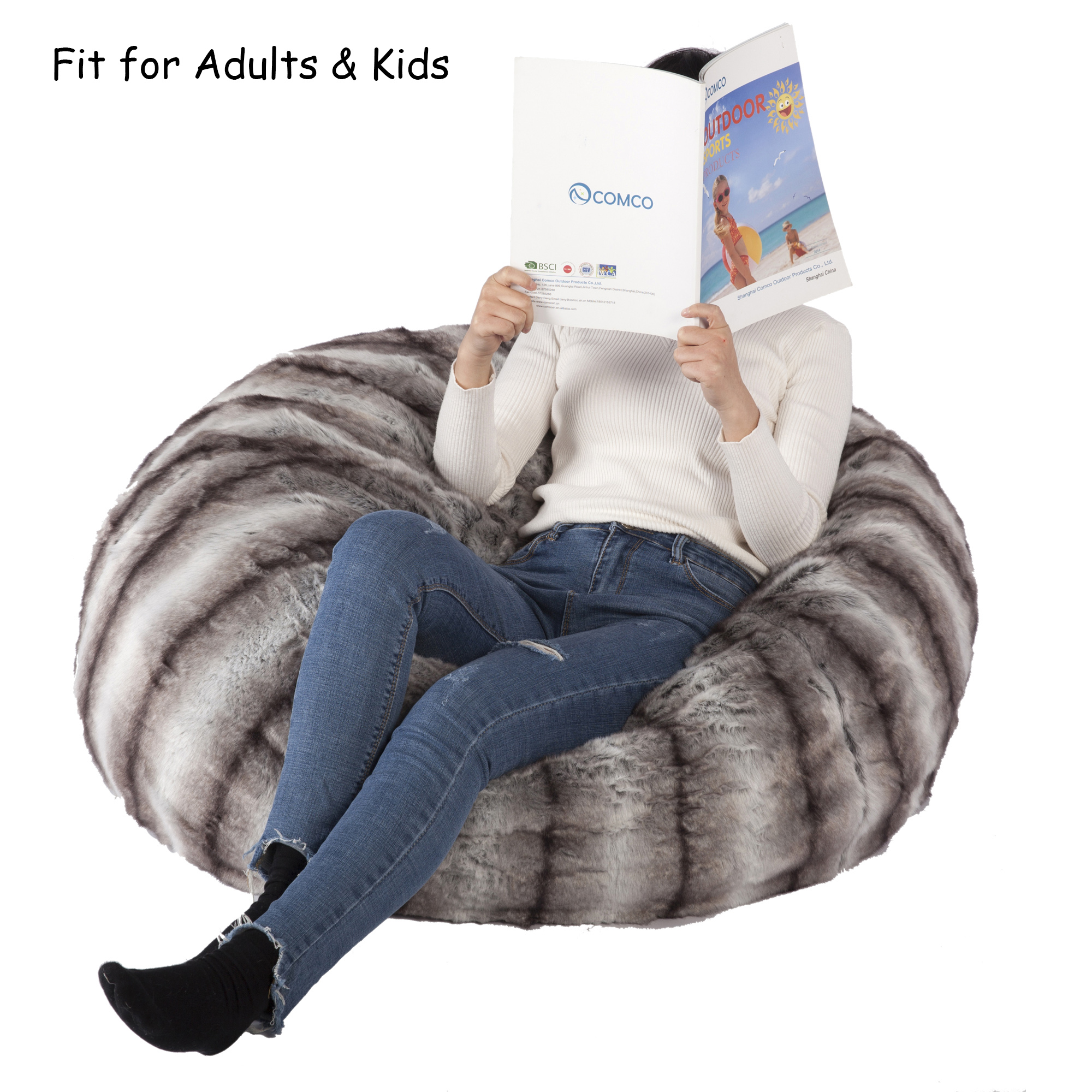 Fine Karmas Product Faux Fur Bean Bag Chair Luxury And Comfy Big Beanless Bag Chairs Plush Furry Chair Soft Sofa Lounger For Adults And Kids Sponge Forskolin Free Trial Chair Design Images Forskolin Free Trialorg