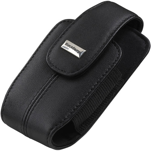 BlackBerry Leather Holster for BlackBerry 8330 Curve - Black