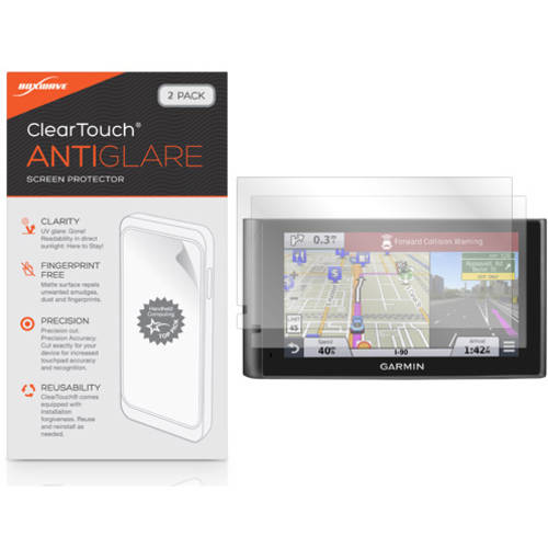 BoxWave ClearTouch Anti-Glare Anti-Fingerprint Matte Film Skin for Garmin nuviCam, 2-Pack