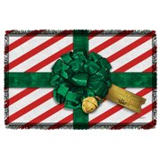 Polar Express Present Woven Throw White 48X80