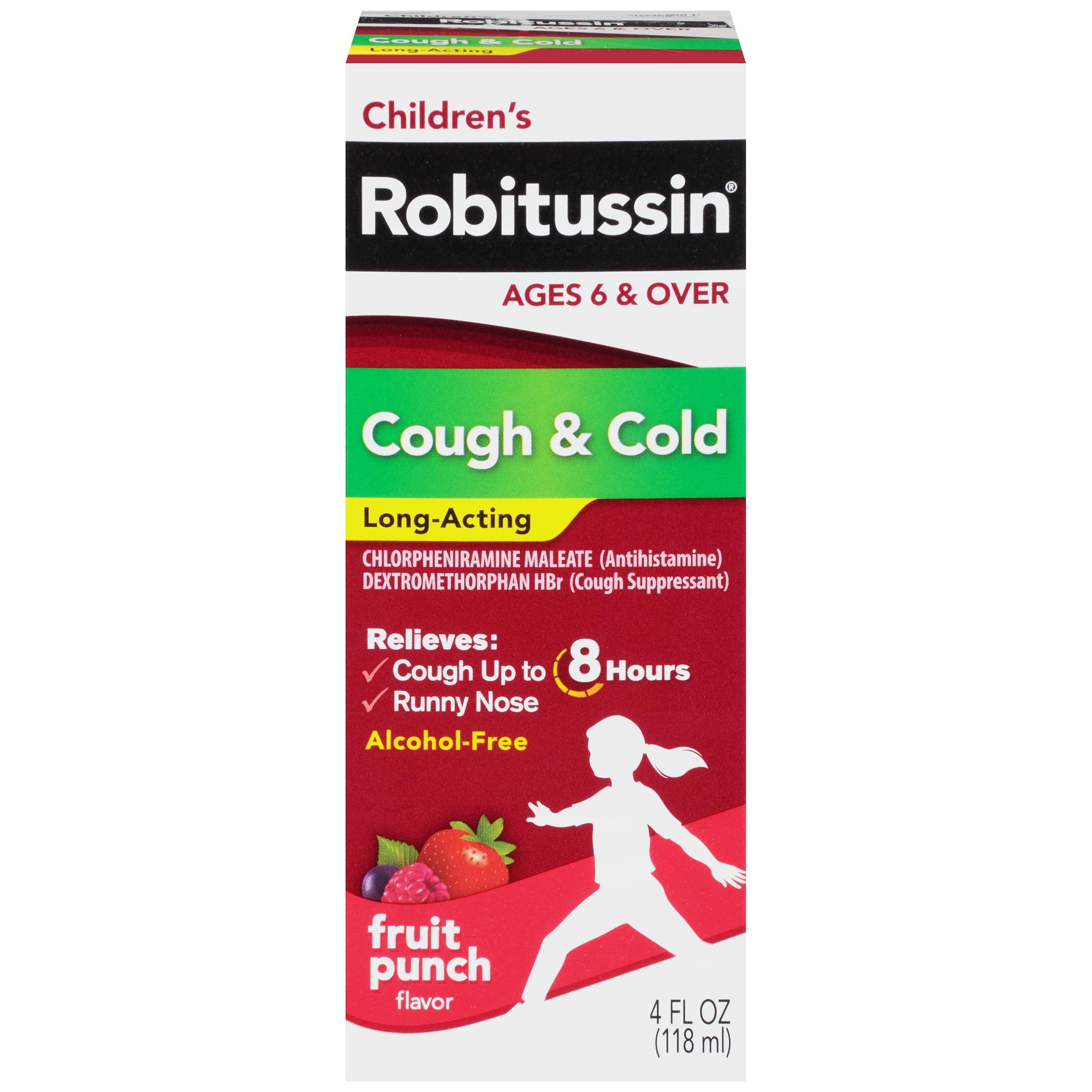 Children S Robitussin Long Acting Cough Cold Liquid Fruit