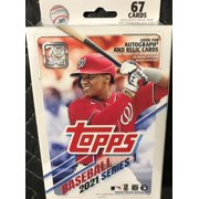Topps 2021 Baseball Series One Hanger Box Containing 67 Cards