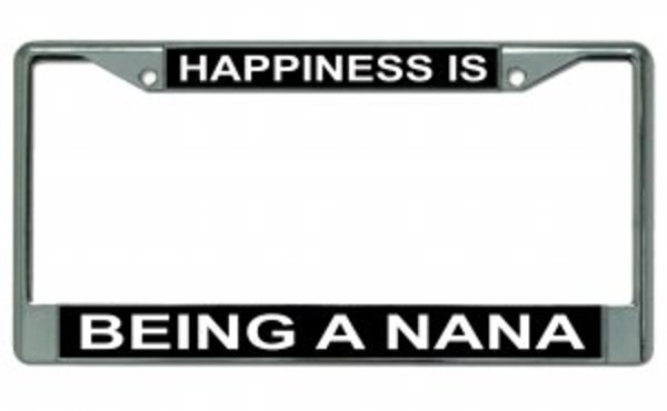 Glossy Black License Plate Frame HAPPINESS IS PLAYING SOFTBALL Auto Accessory