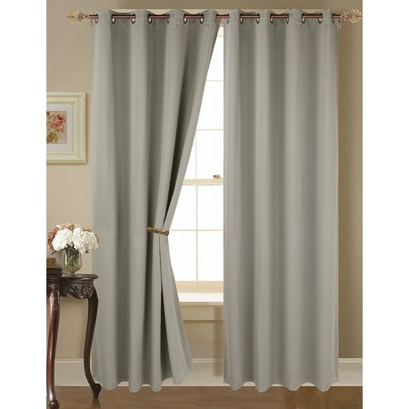 Empire amber solid thermal blackout grommet window curtain panel set of two 2 84 x 54 inch for Thermal windows reviews
