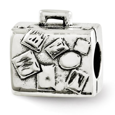 925 Sterling Silver Charm For Bracelet Suitcase Bead Travel Gifts For Women For Her