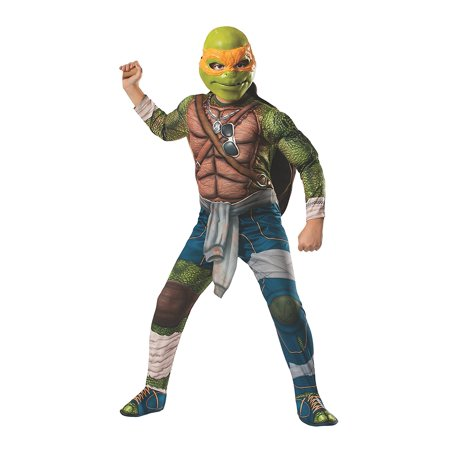 Michelangelo Ninja Turtle Costume (Teenage Mutant Ninja Turtles Boys Deluxe Michelangelo)