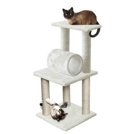 Premium Cat Tree Tower Condo Scratch Furniture  33   White