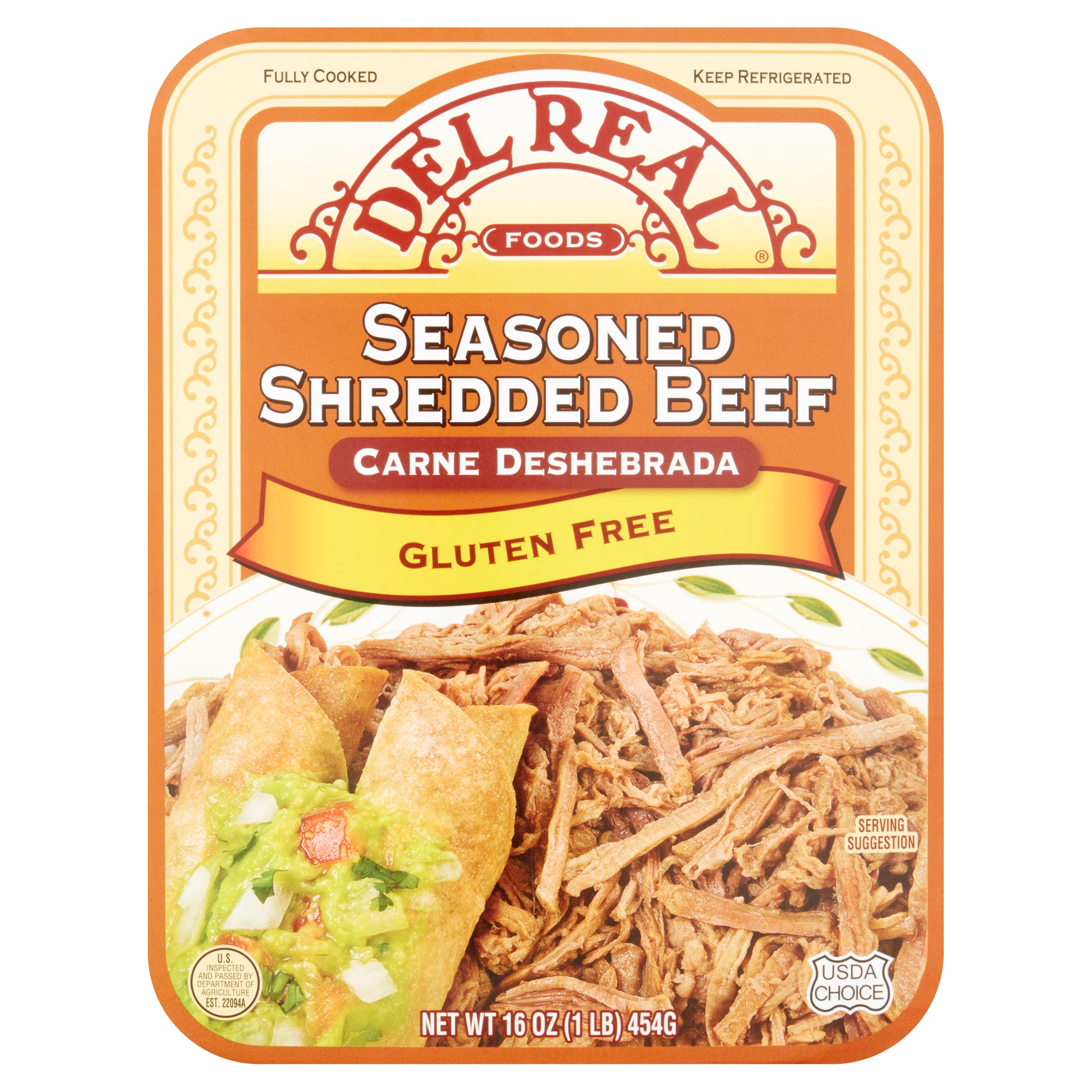Del Real Foods Seasoned Shredded Beef, 16 oz by Del Real Foods
