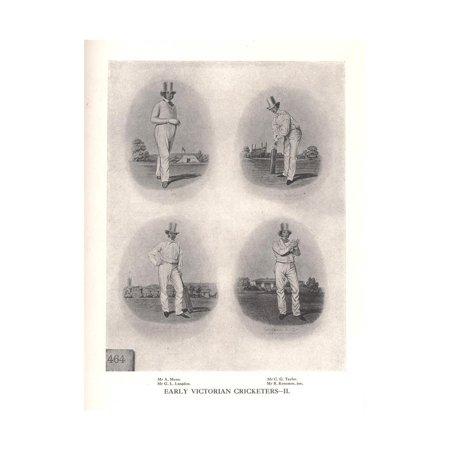 Early Victorian cricketers, 19th century (1912) Print Wall Art 19th Century Victorian Era