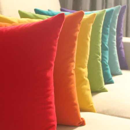 45cm x 45cm Solid Suede Nap Cushion Cover Bed Sofa Throw Pillow Case Home Decor (Pillow is not included)