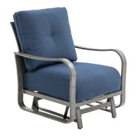 Belham Living Samba Rio Metal Deep Seating Glider Chair - Silvery Gray