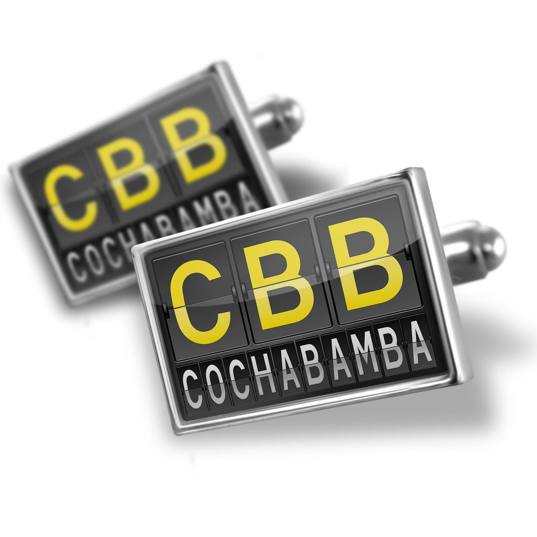 Cufflinks CBB Airport Code for Cochabamba - NEONBLOND