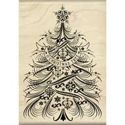 "Inkadinkado Mounted Rubber Stamp 3.5""X5""-O Christmas Tree"
