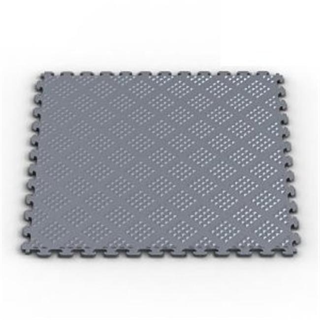 Norsk-Stor NSMPRD6MP Raised Diamond Multi-Purpose PVC Flooring- 6-Pack- Metallic Pewter