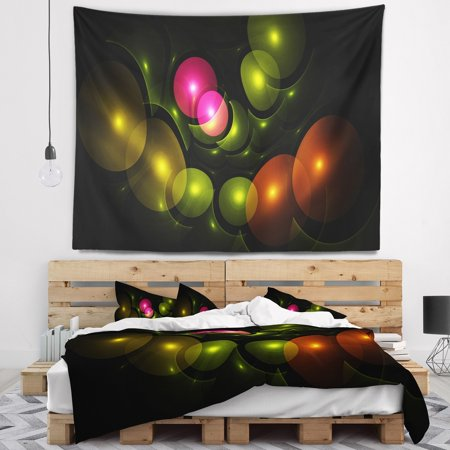 Cool Design Art Designart Multi Color 3D Surreal Circles Abstract Wall Tapestry Home Interior And Landscaping Staixmapetitesourisinfo