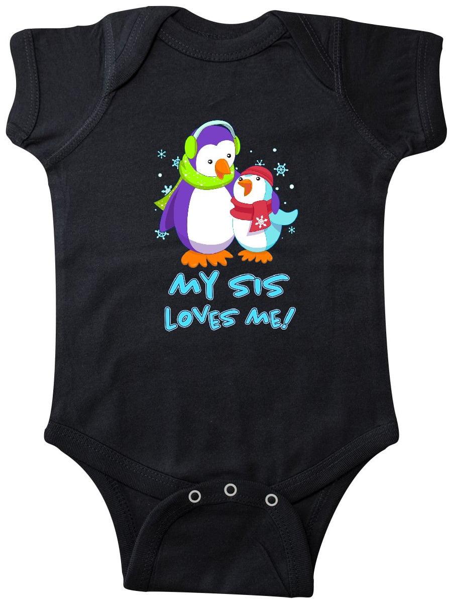 inktastic Big Sister Penguin Infant Creeper