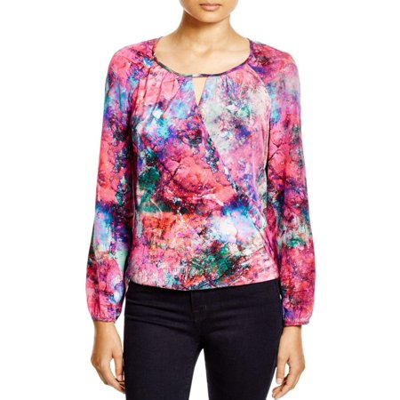 (Amanda Uprichard Womens Petites Silk Wrap Blouse)