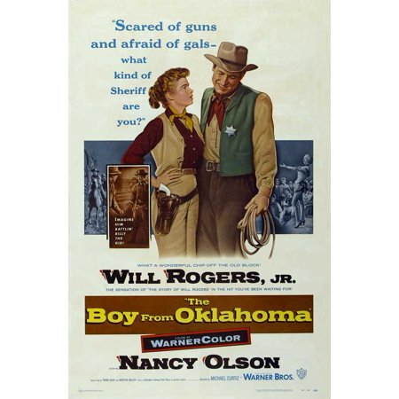 The Boy from Oklahoma POSTER Movie Mini Promo - Oklahoma Aquarium Halloween