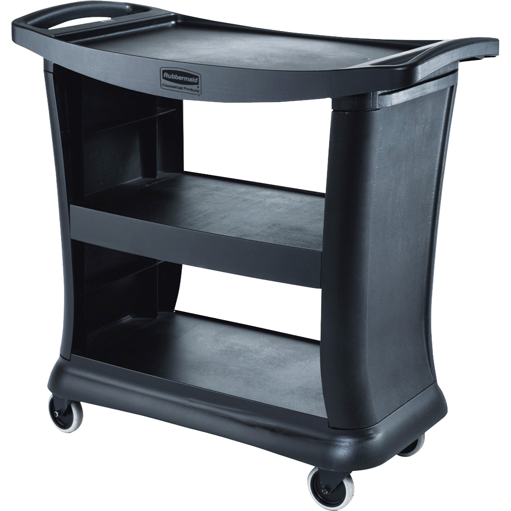 Rubbermaid Commercial, RCP9T6800, 9T68 Executive Service Cart, 1 Each, Black