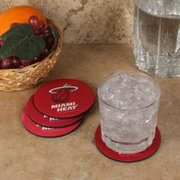 Miami Heat 4-Pack Round Neoprene Coaster Set