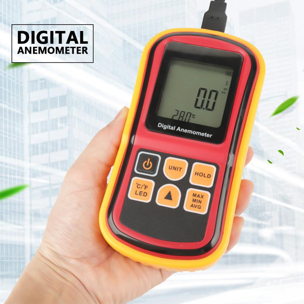 EECOO GM8901 Handheld LCD Digital Anemometer Air Speed Tester Wind Velocity Temperature Meter Wind Speed Tester Digital Anemometer