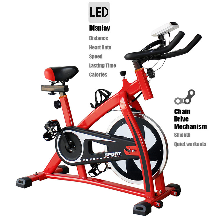 Stationary Exercise Bike Indoor Cycle Trainer Fitness Sta...