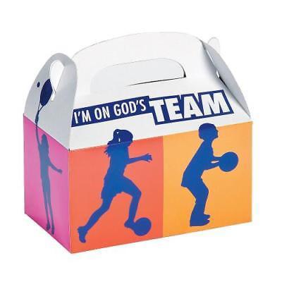IN-13798362 Sports VBS Treat Boxes Per Dozen (Vbs Supplies)