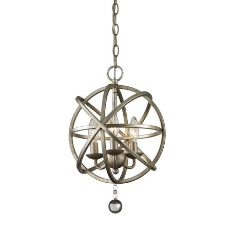 New zlite Product  Acadia Collection 3 Light Pendant in Antique Silver Finish Sold by (Acadia Collection)