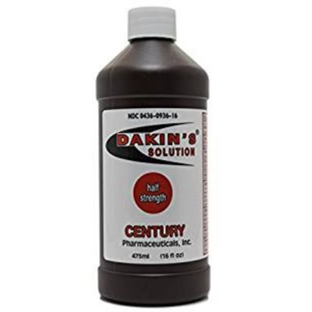 Dakin's Solution-Half Strength Sodium Hypochlorite 0.25 %, Wound Therapy for Acute and Chronic Wounds by Century (Best Solution For Pigmentation)