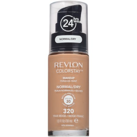 Revlon ColorStay Makeup for Normal/Dry Skin, 320 True Beige, 1 fl oz