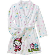 Girls' Hello Kitty velvet fleece robe